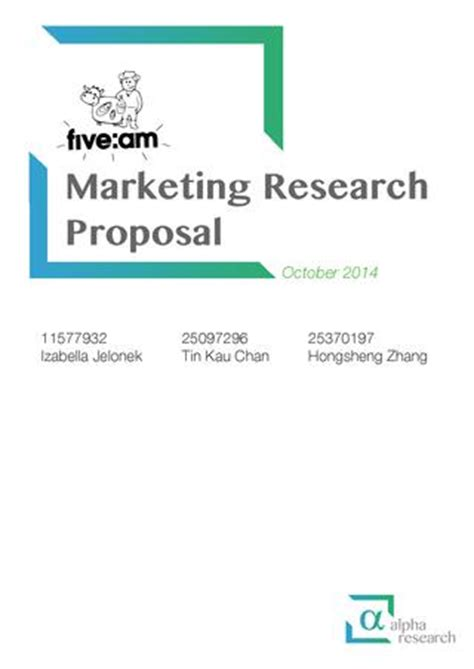 Marketing Research Proposal Sample Essay - 568 Words
